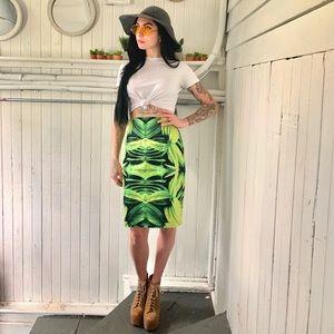 High waisted palm leaf skirt